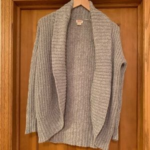 Thick cocoon wrap style gray cardigan